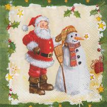 Guardanapo Toke e Crie Papai Noel e Boneco de Neve - 5 unid -