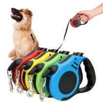 Guia retratil 5m p/ coleira cachorro cao dog ate 20kg - Dog Leash