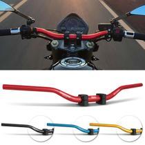 Guidão Esportivo Moto Universal Rocksolid Baixo Alumínio Preto Fosco Vermelho Azul Dourado Adaptador -