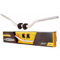Guidão Moto Oxxy Fat Bar Alto Polido + Adaptador Motocross -