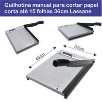 Guilhotina manual para cortar papel 15 Folhas 36cm Lassane -