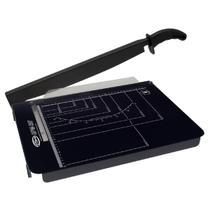 Guilhotina para cortar papel menno gpm 297 até 15 folhas preta com serigrafia branca -