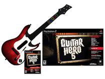 Guitar Hero: 5 com Guitarra para PS2 - Activision