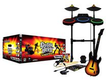 Guitar Hero: World Tour para PS3 - com Guitarra Bateria e Microfone - Activision