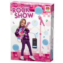 Guitarra com Microfone Pedestal ROCK SHOW DM TOYS DMT5893 -