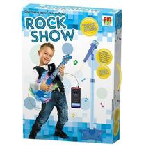 Guitarra com Microfone Pedestal ROCK SHOW DM TOYS DMT5894 -