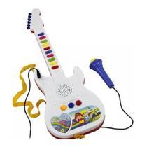 Guitarra Infantil Microfone Emite Sons Musicas Deixa Cantar - Toys