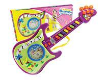 Guitarra Infantil Musical Colorida Com Luz e Sons Diversos - 958 - Outras