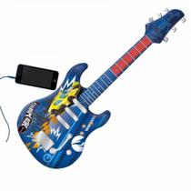 Guitarra Infantil Radical Hot Wheels Luxo Conecta com Smartphone Fun -