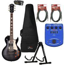Guitarra Les Paul CR 250 TBK Cort Kit Essencial Acessórios -