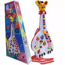 Guitarra Musical Infantil Girafa 26 Teclas Sons E 10 Músicas - King