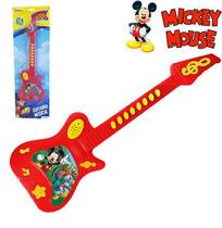 Guitarra musical infantil mickey a pilha na cartela - Etitoys