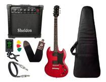 Guitarra SG Epiphone Ve Special Vermelho Cubo Sheldon -