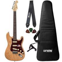 Guitarra Strato SX SSTASHR NA Swamp Ash + Capa Correia Capo - Shelter