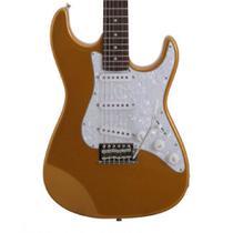 Guitarra Stratocaster Seizi Vision Gold Escudo Perolado -