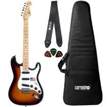 Guitarra Stratocaster SX SST ALDER 3TS Sunburst Capa Correia - Shelter