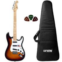 Guitarra Stratocaster SX SST ALDER 3TS Sunburst Vintage Capa - Shelter