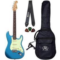 Guitarra Stratocaster SX SST62 LPB Azul com Bag + Acessórios - Shelter