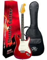 Guitarra Sx Sst62 Vermelho Vintage Com Capa Bag -