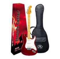 Guitarra Sx Vintage Sst57 Vermelho Serie Plus Com Capa -
