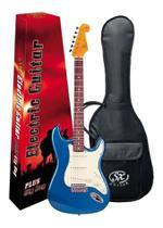 Guitarra Sx Vintage Sst62 Azul Com Capa Bag -