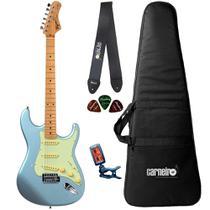 Guitarra Tagima Strato TG530 Lake Blue Capa Correia Afinador -