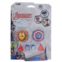 Gyro Hero Marvel Avengers - Homem de Ferro e Capitão América - DTC -
