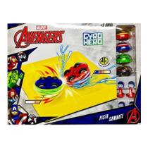 Gyro Hero Pista Combate Marvel Os Vingadores 4921 - Dtc -