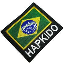 Hapkido bandeira Brasil patch bordado passar a ferro costura - Br44