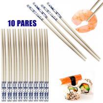 Hashi para Comida Japonesa com Detalhes Azuis 10 Pares  Unicasa -