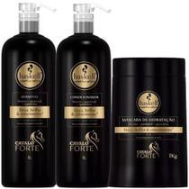 Haskell Kit Cavalo Forte Shampoo Condicionador Máscara 1kg -