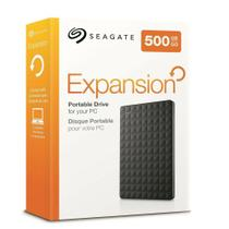 Hd externo 500gb seagate portátil expansion -