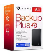 HD Externo 5TB Backup Plus Seagate Portátil USB 3.0 Preto STDR5000100 -