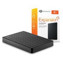 HD Externo Portátil 2TB - USB 3.0 Seagate Expansion - STEA2000400 / STEA2000422 -  Preto -
