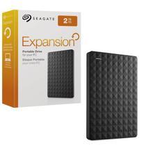 HD Externo Portátil Seagate Expansion 2TB USB 3.0 Preto -