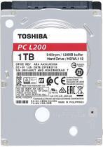 """HD para Notebook 1TB, 2.5"""", SATA III, 5400RPM, PC L200, HDWL110UZSVA - Toshiba -"""