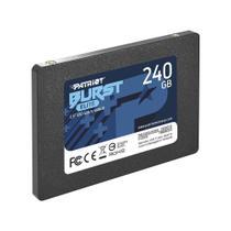 "HD SSD 240GB Patriot Burst 2,5"" Sata III 6Gb/s, Leitura 555 MB/s, Gravação 540 MB/s - PBU240GS25SSDR -"