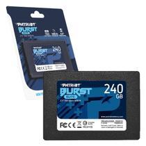 HD SSD 240GB Patriot Burst Elite, Sata III 6Gb/s, Leitura 450MB/s, Gravação 320MB/s - PBE240GS25SSDR -