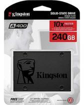 Hd Ssd Kingston A400 240gb Sata Leitura 500mb/S Gravação 350mb/S - Sa400s37/240g -