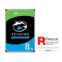 "Hdd 3,5"" Seguranca Eletronica Vigilancia Dvr Nvr Cftv Hdd 2p6101-500  St8000ve000 Skyhawk Ai 8 Teras - Seagate"