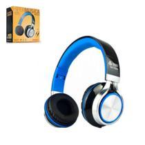 Headfone Estéreo Infokit com Microfone HM-750MV Preto/Azul -