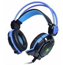 Headfone Fone Gamer Com Microfone XSoldado Luz Led P/ Jogos - Infokit