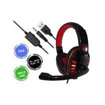Headfone fone ouvido gamer usb microfone hf-g310p4 -vermelho - EXBOM