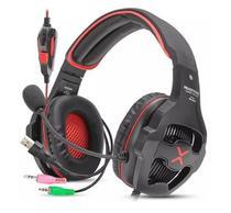 Headfone gamer usb/p2 7.1 surround led c/microfone hf-g650 verm - Exbom