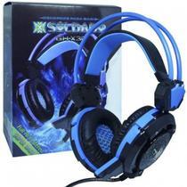 Headfone gamer xsoldado com microfone e led gh-x30 azul - Exbom
