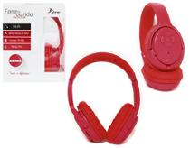 Headphone Bluetooth 3.0 Entrada Sd Card Rádio Fm Mp3 Wma E Wav Vermelho Kp-360 - Knup