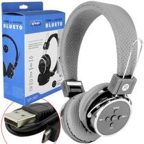 Headphone Bluetooth 3.0 Sd Card P2 Fm Cinza Kp-367 KP-367 KNUP