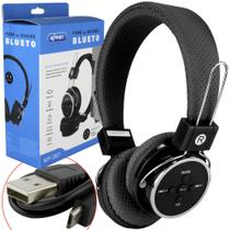Headphone Bluetooth 3.0 Sd Card P2 Fm Preto Kp-367 - Knup