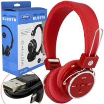 Headphone Bluetooth 3.0 Sd Card P2 Fm Vermelho Kp-367 - Knup