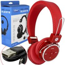 Headphone Bluetooth 3.0 Sd Card P2 Fm Vermelho Kp-367 KP-367 KNUP